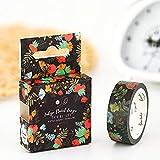 LEYUANA Cinta Washi decorativa Kawaii Flowe linda de 15 mm x 7 m, cinta adhesiva para álbumes de recortes DIY, material de oficina escolar L
