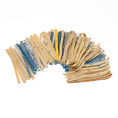 XIALITR Potenciómetro 2600 unids/Lote 130 valores 1/4W 0.25w 1% Resistores de película de Metal Kit de Paquete Surtido Conjunto resistencias de Lote Kits de Surtido Resistor Fijo