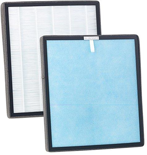 Sichler Haushaltsgeräte Zubehör zu 6-Stufen-Luftreiniger: 2in1-Filter für Luftreiniger LR-600 & -650, antibakteriell, HEPA (6-Stufen-Luftreiniger mit UV-Licht)