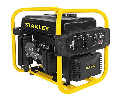 Stanley Inverter Generator, 2000W, 2800 U/min, Stromerzeuger, Notstromaggregat, Luftgekühlter 1-Zylinder 4-Takt-Motor, 10L Kraftstofftank, Benzinbetrieben, Seilzugstarter, 2x230V Steckdosen