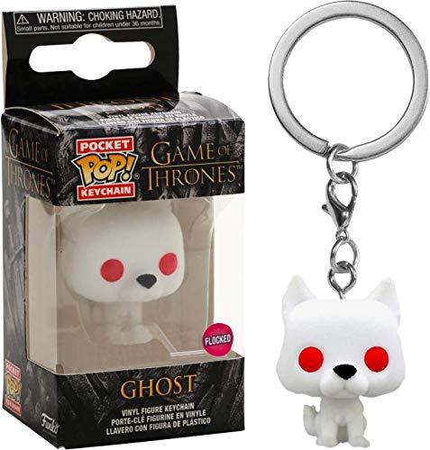 Funko Pocket POP! Keychain Game of Thrones - Ghost [Flocked] Exclusive