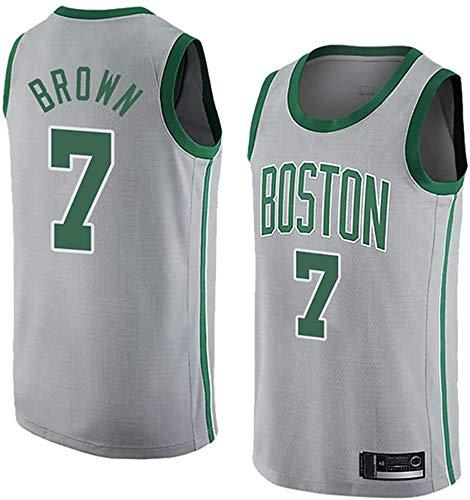 WHYYT Jaylen Brown Men's Jerseys - NBA Boston Celtics # 7 Jersey de Baloncesto, Tela Transpirable Uniforme Unisex Light Uniforme,XL(180~185CM/85~95KG)