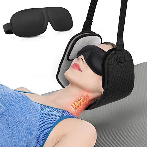 Eyscoco Nacken Hängematte,Hals Hängematte Mit Einstellbaren Kopf Nackenmassagegerät Für Nacken Schmerzlinderung Massager Für Männer Frauen