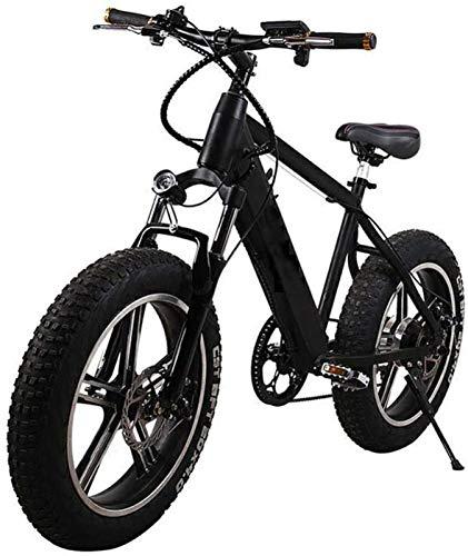 Bicicletas Eléctricas, Montaña de la bicicleta eléctrica, extraíble de gran capacidad de iones de litio (48V 350W), de pedaleo asistido MTB, Fat Tire E-bici, doble freno de disco hidráulico ,Bicicleta