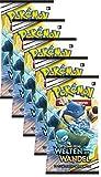 Unbekannt Pokemon SM12 - Welten im Wandel - 5 Booster - Deutsch -