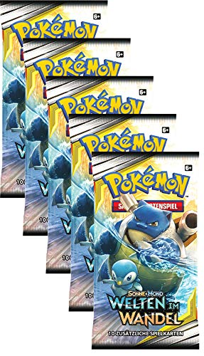 Unbekannt Pokemon SM12 - Welten im Wandel - 5 Booster - Deutsch