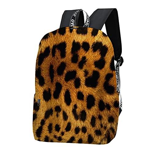 3D Leopardo Mochila para Mujer Estilos Populares Mochila Mochila Ligero Senderismo Bolsa Deportes Escuela Bolsa Diseño de Moda Bolsa de Viaje Mochila de Alta Capacidad