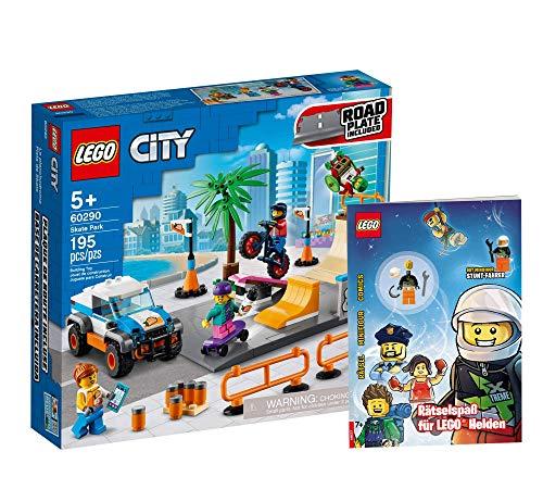 Lego Set - Lego City Skate Park (60290) + Rätselspaß für Legohelden (Softcover), Geschenkset ab 5 Jahren