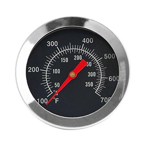 Sqiuxia - Termometro da cucina per barbecue, barbecue e affumicatori, in acciaio INOX, misura da 50 °C a 350 °C