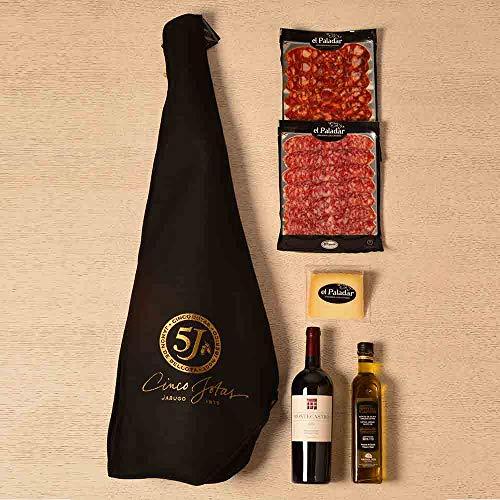 Cesta Regalo Gourmet con Jamón Cinco Jotas LOTE GOUR-350-8