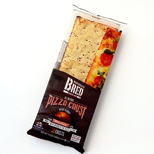 Brooklyn Bred (Bread) All Natural Pizza Crust Non GMO Pack of 3 Vegan Kosher Organic