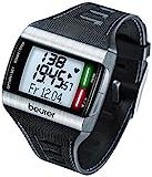 Beurer PM62 - Pulsómetro con fijación para Bicicleta, Calendario, conexión PC, Color Negro