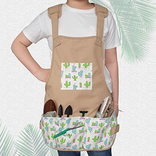 Canvas Garden Tool Apron Gardening Workers Apron for Women