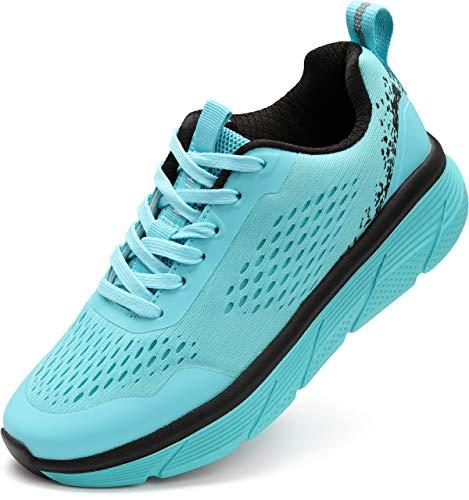 WHITIN Damen Laufschuhe Turnschuhe Traillaufschuhe Sportschuhe für Frauen Mädchen Workout Zumba Schuhe Joggingschuhe Walkingschuhe Outdoor Herbst Neon Winter Blau gr 42 EU(43 Asien)
