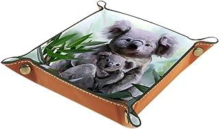 Vockgeng Gouache Animal Koala Boîte de Rangement Panier Organisateur de Bureau Plateau décoratif approprié pour Bureau à D...