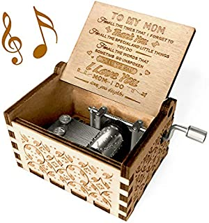 Best You are My Sunshine Music Box, Gift for Mom from Daughter, Wood Laser Engraved Vintage Music Boxes, Unique Best Gift for Mother