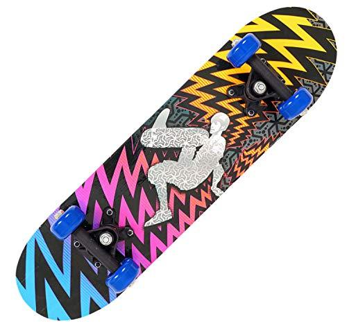 XJZSD Skateboard para Principiantes, Adolescentes de Cuatro Ruedas niños de Doble Cara de Dibujos Animados Scooter para niños Regalos de cumpleaños