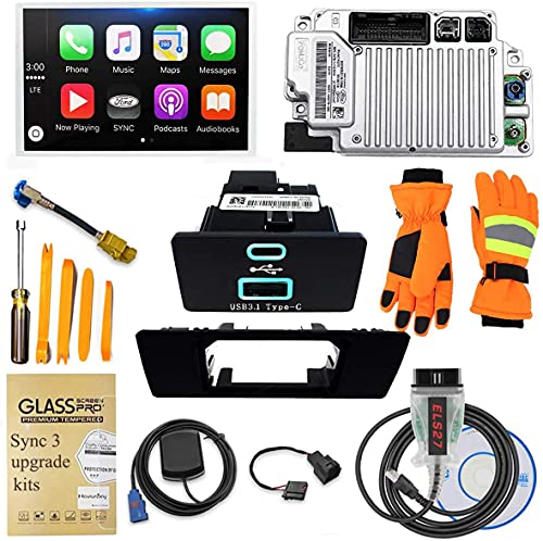 2021 SYNC 3 Upgrade Kit, Fits for 2015 Ford F-150, SYNC 2 to SYNC 3.4 MyFord Touch (MFT) Support Carplay,Including 8 Inch Screen, GPS Navigation Antenna,APIM Module,USB Hub,NA 220 MAP