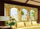 HDOUBR benutzerdefinierte Wohnzimmer wandbild 3D fototapete griechischen antiken römischen Architektur dekor malerei 3D wandbilder Wallpaper für Wand 3D, 250x175 cm (98.4 by 68.9 in)