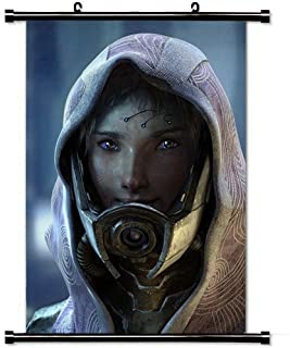 Modern style Home Decor Custom Poster with Mass Effect Character Female Look Hood Wall Scroll Poster Fabric Painting 23.6 X 35.4 Inch (60cm X 90 cm)