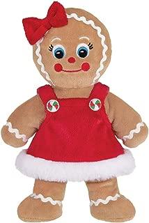 Bearington Holly Ginger Plush Stuffed Animal Gingerbread Girl, 10 Inches