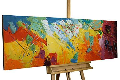 KunstLoft Stravagante Metallo Relief 3D 'Rise to The Sky' 150x50x4cm | Decorazione Parete XXL Design Fatta a Mano | Multicolore | Quadro Lussuoso Scultura plastico murale