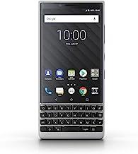 BlackBerry KEY2 Silver Unlocked Single Sim BBF100-2 Single Sim Android Smartphone (AT&T/T-Mobile) 4G LTE, (Silver 64GB - US Warranty)