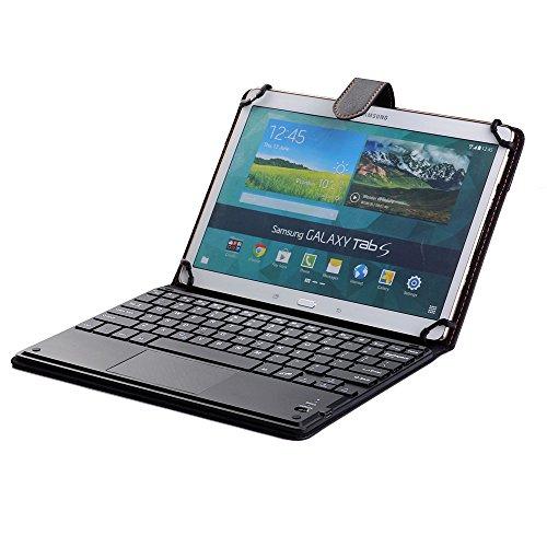 SCIMIN Funda universal para teclado de tablet de 10 pulgadas, funda para teclado Acer Iconia Tab A3-A20, funda de piel sintética con teclado Bluetooth (TOUCHPAD Mouse) para Acer Iconia Tab A3-A20