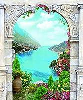 ダイヤモンド絵画クロスステッチ5D風景ダイヤモンド刺繍壁装飾-14_40×50cmフルスクエア
