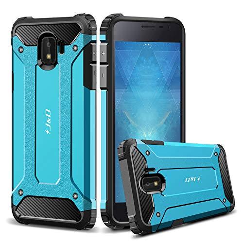 JundD Kompatibel für Galaxy J2 Core Hülle, [ArmorBox] [Doppelschicht] [Heavy-Duty-Schutz] Hybrid Stoßfest Schutzhülle für Samsung Galaxy J2 Core - Blau