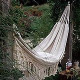 LSHGJ Person Hammock Makramee Fringe Double Deluxe Hammock Swing-Net Stuhl im Freien Innen...