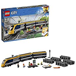 This construction electric toy train features a motorized engine with Bluetooth remote control, a drivers cabin, passenger toy cars and more Includes four LEGO minifigures: two passengers, a train conductor and a train attendant Also includes a platf...