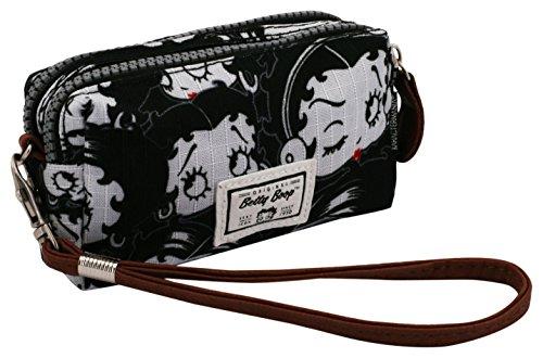 Betty Boop Noir Kulturtasche, 14 cm, Schwarz (Negro)