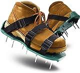 Viccilley Zapatos de aireación de césped Cómodas Sandalias de Pinchos de aireación de césped para césped Par de Zapatos de aireación de Suelo con Pinchos(3 Correas)