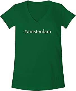 The Town Butler #Amsterdam - A Soft & Comfortable Women's V-Neck T-Shirt