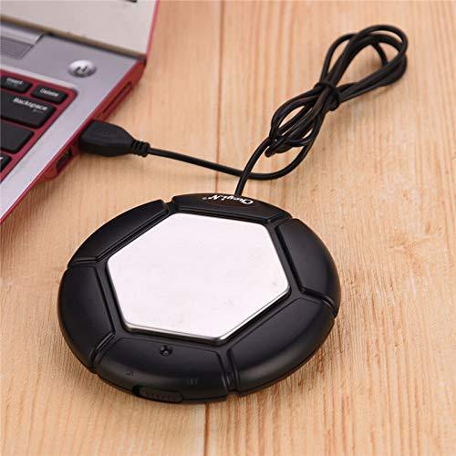 HONGYAN Heizung Achterbahn Elektro Stövchen Tassenwärmer Becher Milchwärmer USB-Kaffeewärmer Heizung Coaster Kaffee Heizmatte