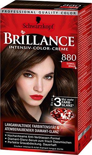 Brillance Intensiv-Color-Creme 880 Dunkelbraun, 3er Pack (3 x 143 ml)