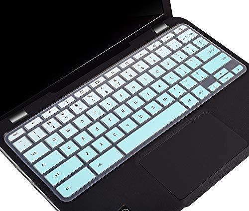 Keyboard Skin for 2018-2020 Lenovo Chromebook C330 11.6', Lenovo Chromebook Flex 3 11.6, Lenovo Flex 11 Chromebook, Lenovo Chromebook N20 N21 N22 N23 100e 300e 500e 11.6' Keyboard Cover, Ombre Mint
