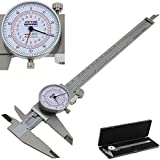 Anytime Tools Dial Caliper 8' / 200mm DUAL Reading Scale METRIC SAE Standard INCH MM
