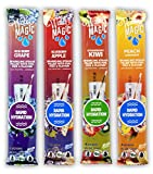 Rapid Hydration with Electrolytes, Acai Berry Grape, Strawberry Kiwi, Blueberry Apple, Peach Lemonade Flavored Straws 4-pack (16 count), Gluten Free, from the Makers of Milk Magic