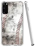 IWONE S20 Case Designer Rubber Durable Protective Skin Transparent Cover Shockproof Compatible with Samsung Galaxy S20 5G Creative Vintage Baseball Art Printing