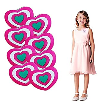 Valentine s Day Blinking Heart Brooches | 12 Pack Light Up Holiday Heart Pins | Red and Pink Clothing Accessory