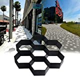 MASTER TRADE Cement Mold 11.5 x 11.5inch Reusable Garden Pavement Paving Mould, Hexagon Concrete Path Walk Maker for Garden Yard Stepping Stone