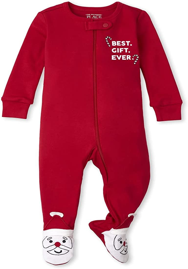 The Children's Place unisex-baby and Toddler Holiday Snug Fit Cotton One Piece Pajamas