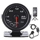 EBTOOLS Indicador de presión Turbo Boost negro, indicador de presión Turbo Boost 60 mm tintado 17 colores OBD2 Accesorios para autos de carreras