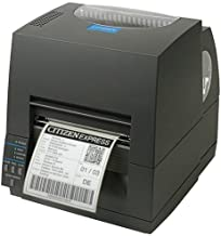 Citizen America CL-S621-GRY CL-S621 Series Thermal Transfer/Direct Thermal Barcode and Label Printer with USB/Serial Connection, 4