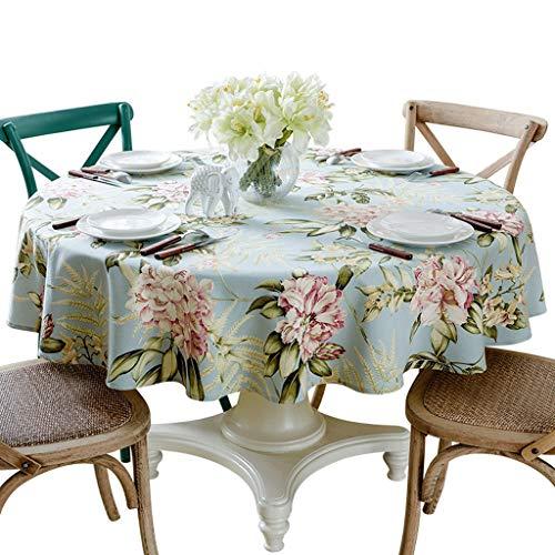 Américain 1.5 M Grande Table Ronde Nappe En Coton Européenne Table Ronde Tissu Maison Table Basse Banquet Nappe Simple (taille : Diameter 160cm)