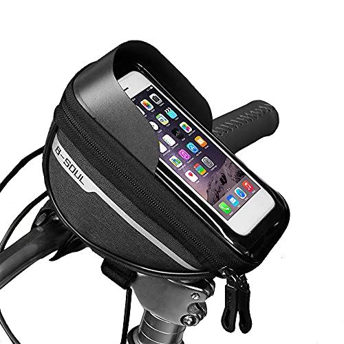 SEW Bolsa Impermeable para Teléfono Móvil con Pantalla Táctil Frontal para Bicicleta, Bolsa para Teléfono Móvil con Manillar De Bicicleta, Adecuada para Teléfonos Móviles De Menos De 6,8