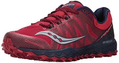 Saucony Men's Peregrine 7 Running Shoe, Red Navy, 7 Medium US