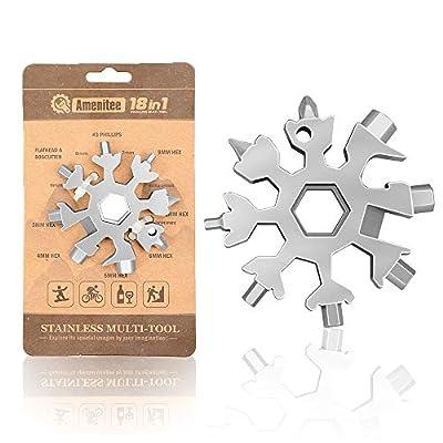 Amenitee 18-in-1 Snowflake Multi-Tool – Easy N Genius - Saker 18-in-1 Stainless Steel Snowflakes Multi-Tool (Standard, Stainless Steel)